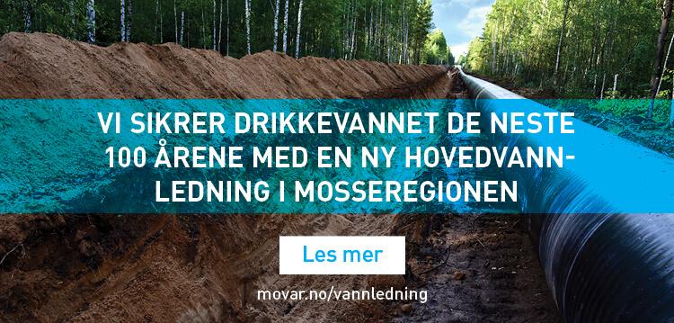 Ny hovedvannledning i Mosseregionen